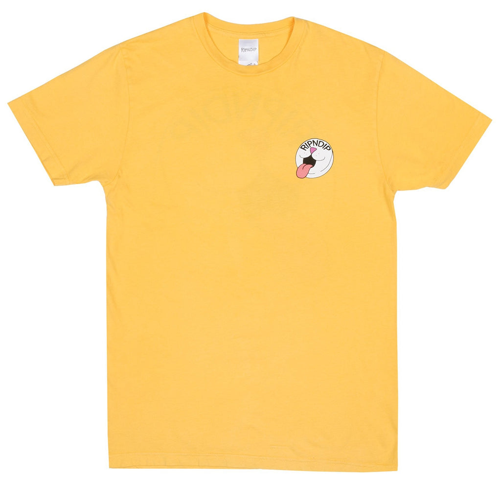 RIPNDIP Pill T Shirt in Primrose Yellow - Front