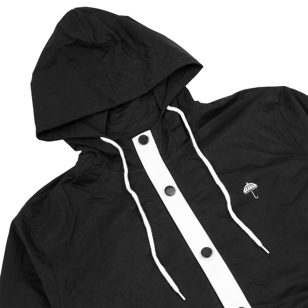 Helas Badman Hooded Coach Jacket in Black - Detail