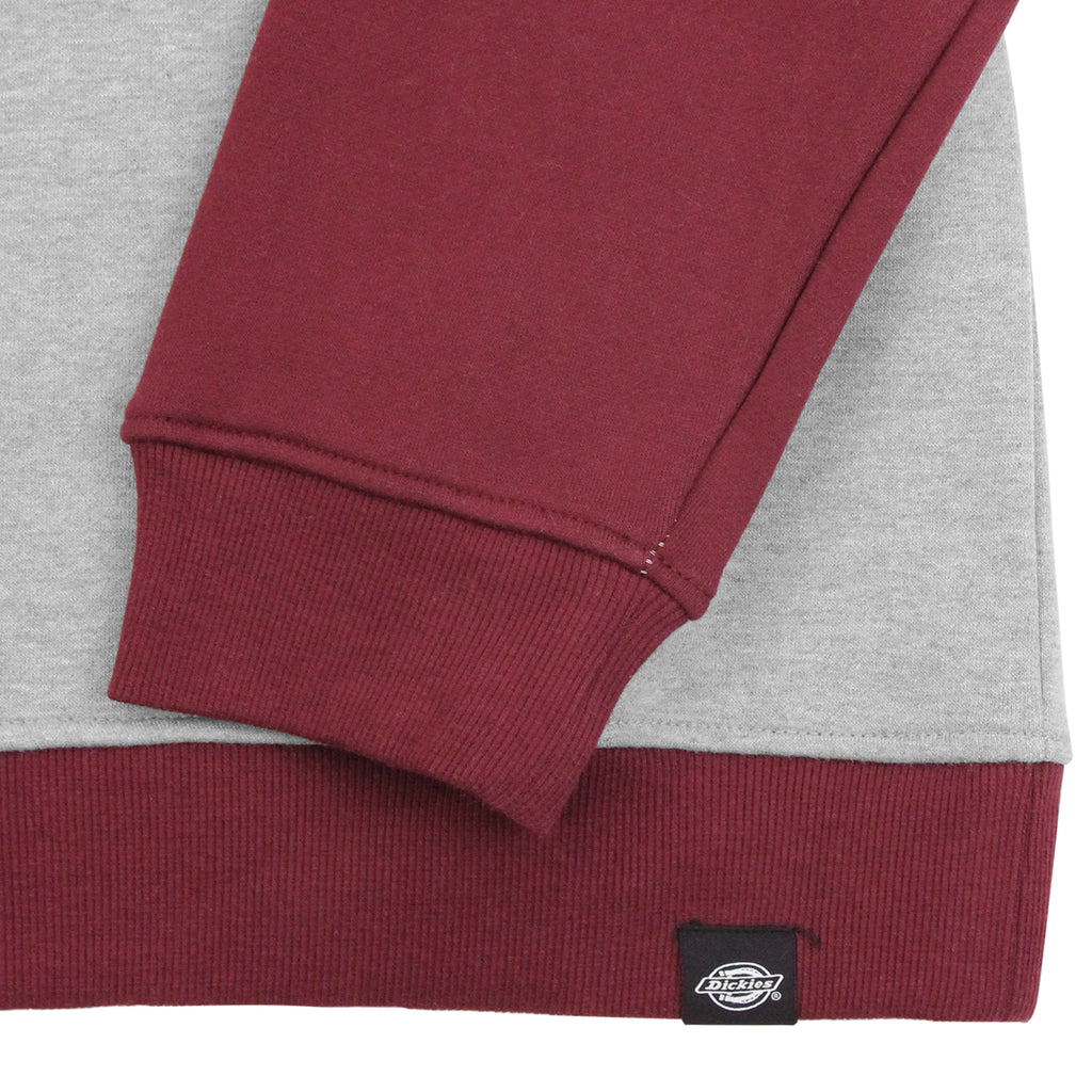 Dickies Port Edwards Crew Sweatshirt in Maroon - Cuffs