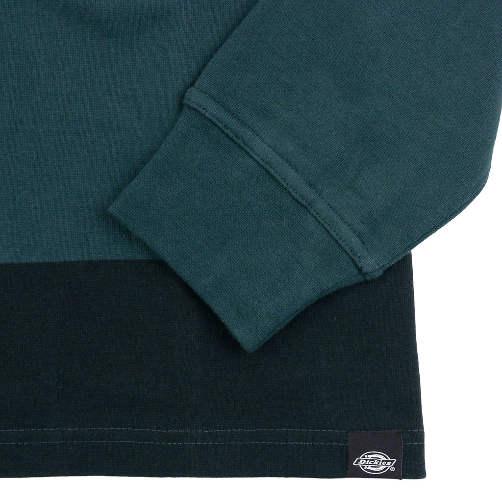 Dickies Cedar Key Rugby Shirt in Green Cables - Cuff