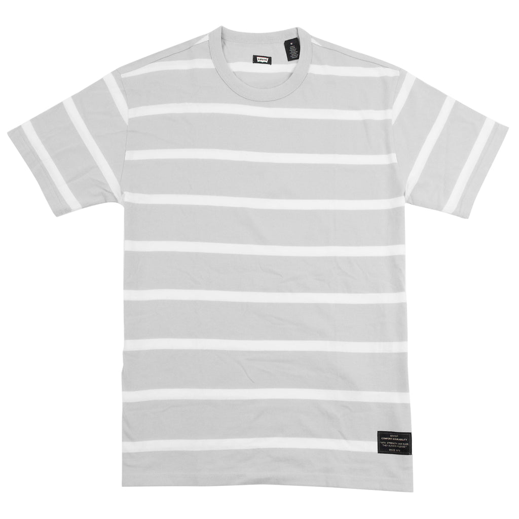Levi's Skateboarding Collection 2 Pack T Shirt in Black / Glacier Grey Stripe - Stripe