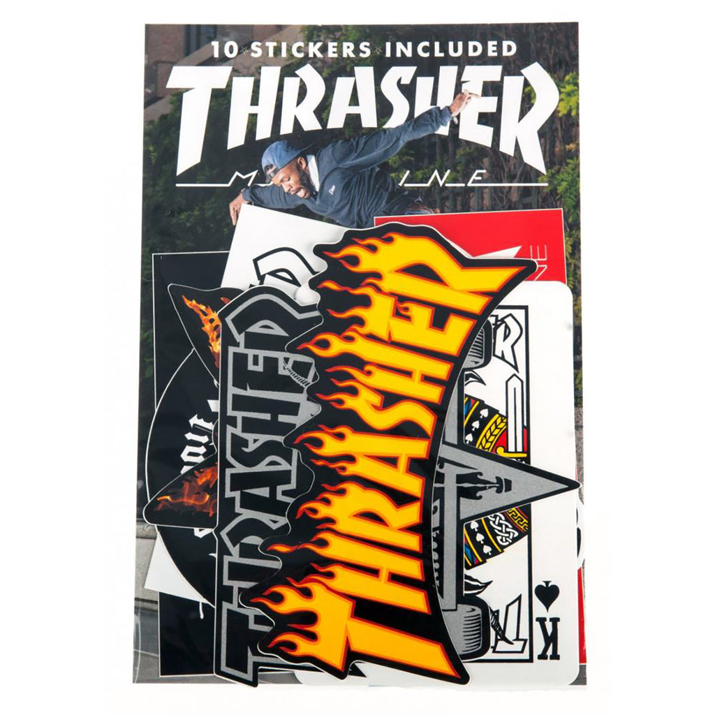 Thrasher Sticker Pack of 10 Assorted