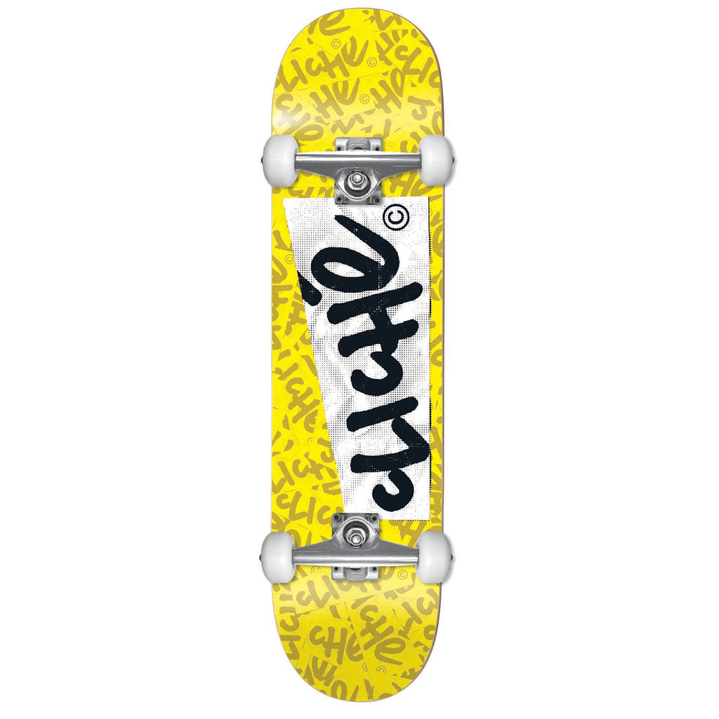 Cliche Skateboards Paper Yellow Complete Skateboard in 7.75""