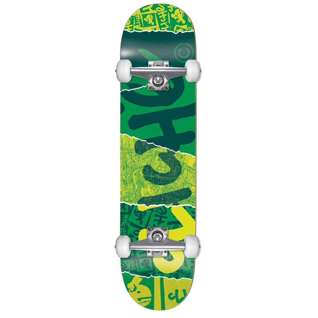 Cliche Skateboards Youth Ripped Green Complete Skateboard in 7""