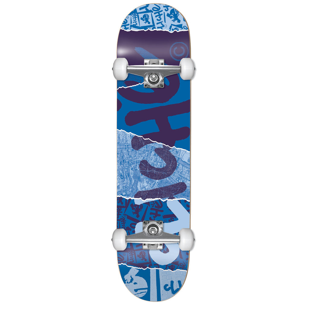 Cliche Skateboards Ripped Blue Complete Skateboard in 8""