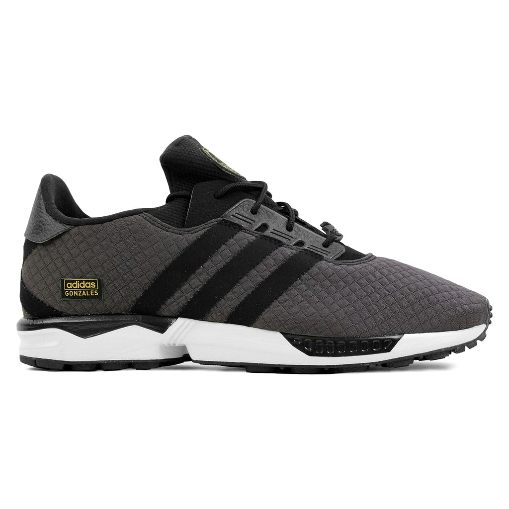 Adidas Skateboarding ZX Gonz Shoes in Carbon / Core Black / Core Black