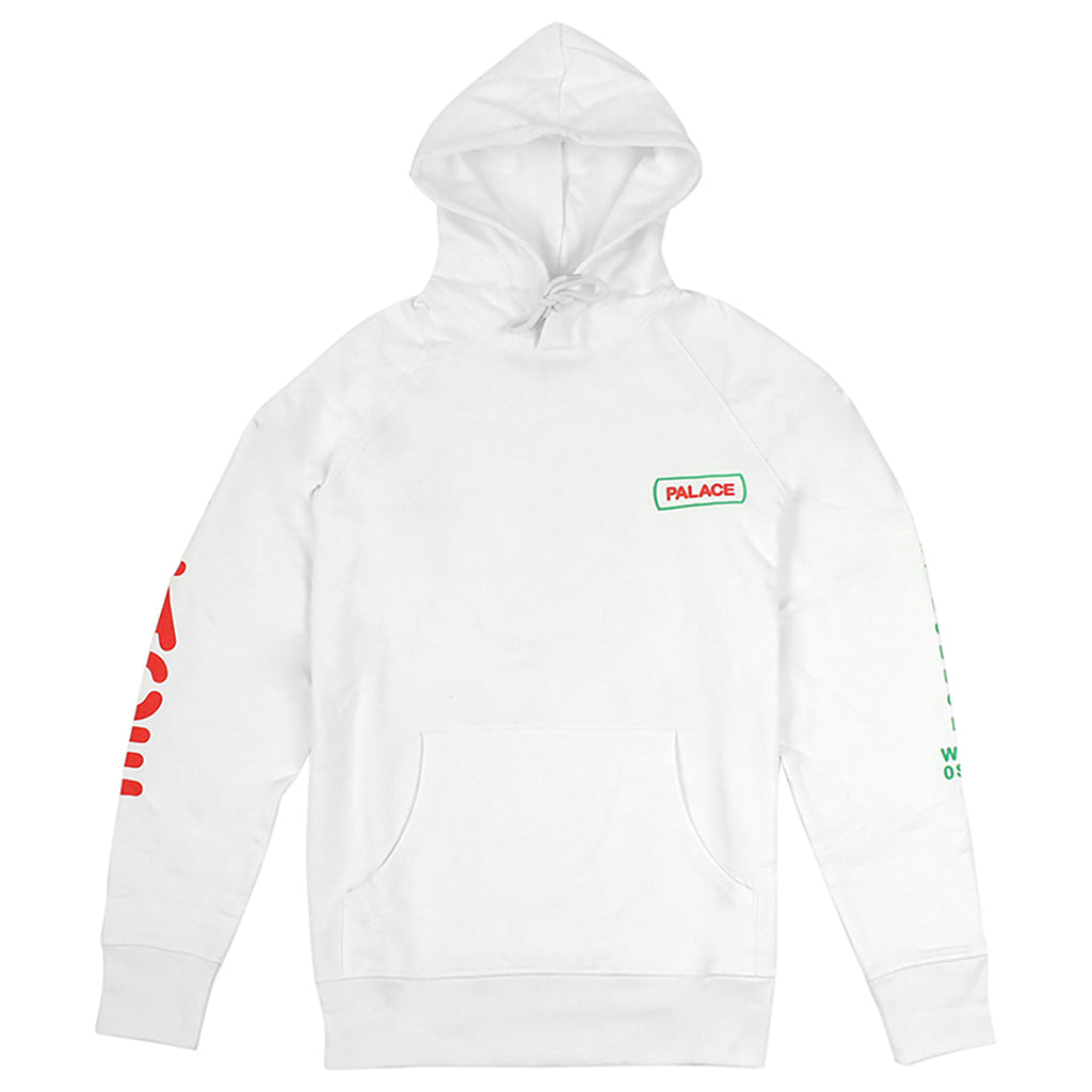Palace Caveman Hoodie in White