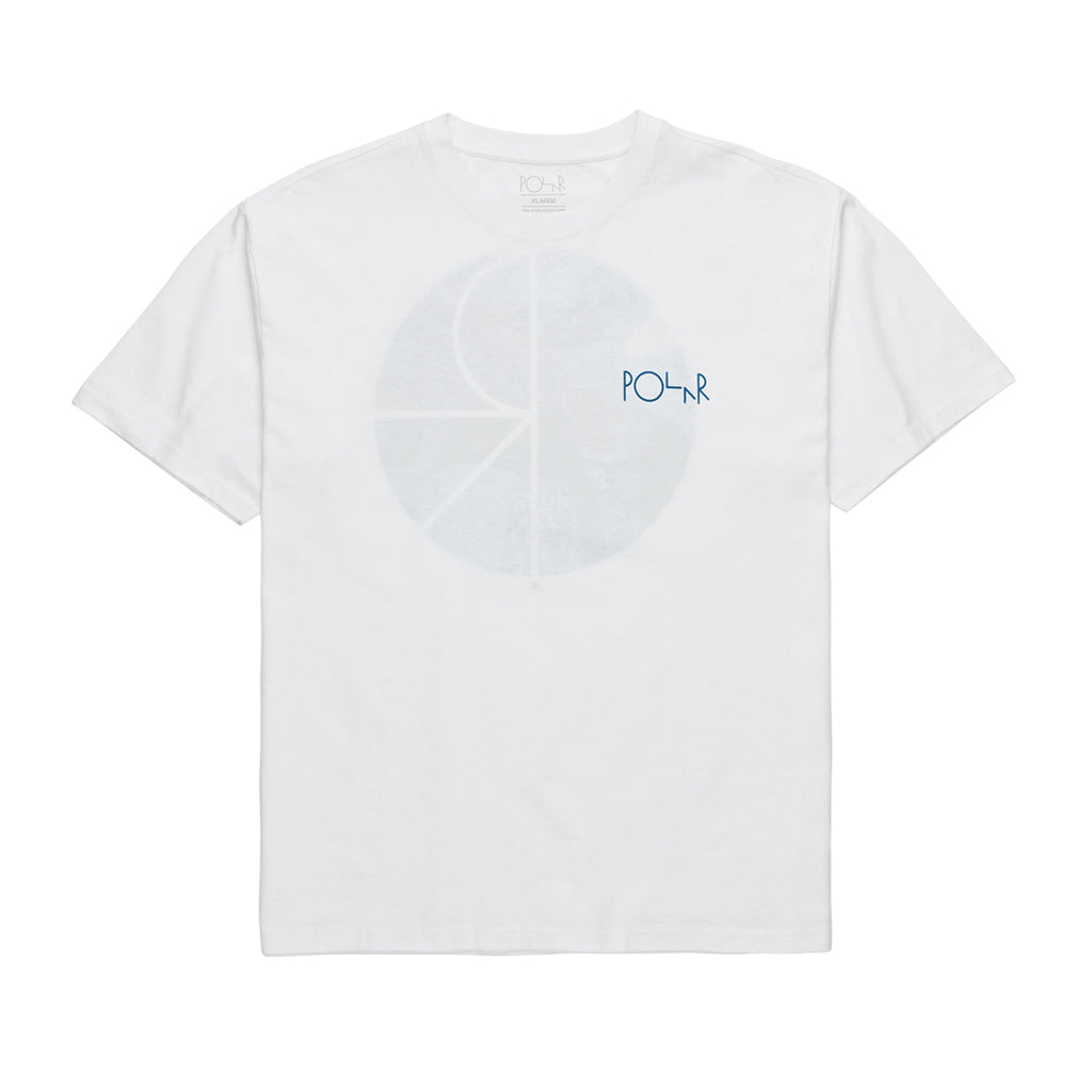 Polar Skate Co Orchid Fill Logo T Shirt in White - Front