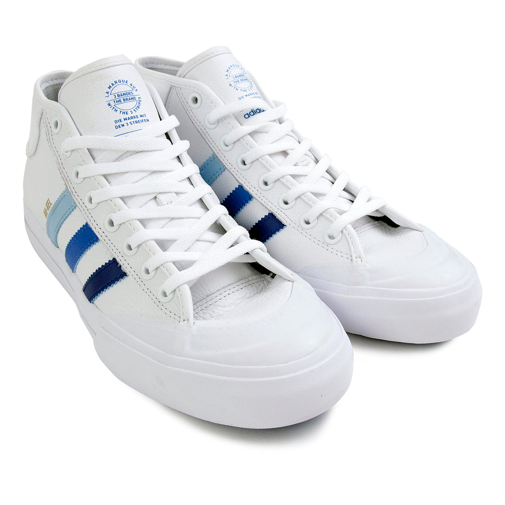 Adidas Matchcourt Mid Na-Kel Smith Shoes in White / Collegiate Royal / Bluebird - Pair