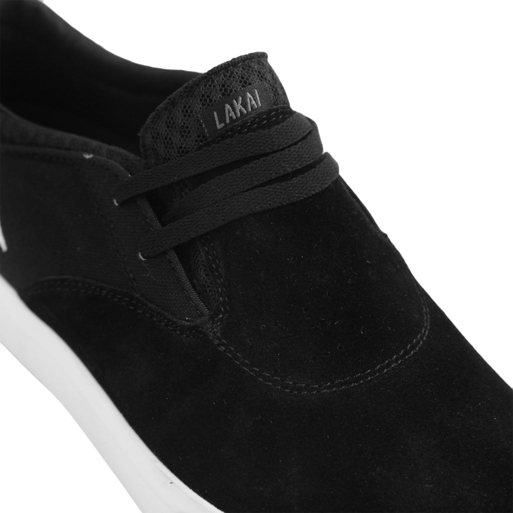 Lakai Riley 2 Skate Shoes in Black Suede - Detail