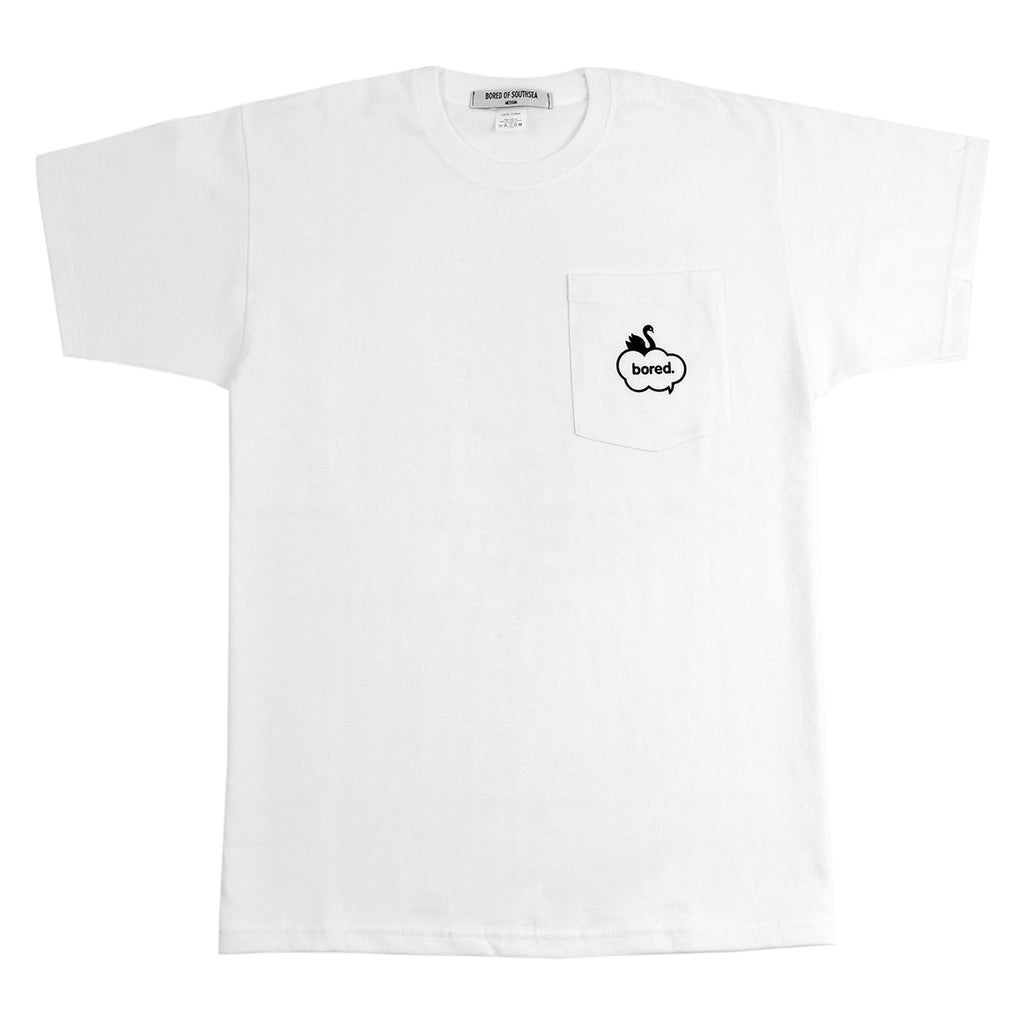 Bored of Southsea Swan Pocket T Shirt in White