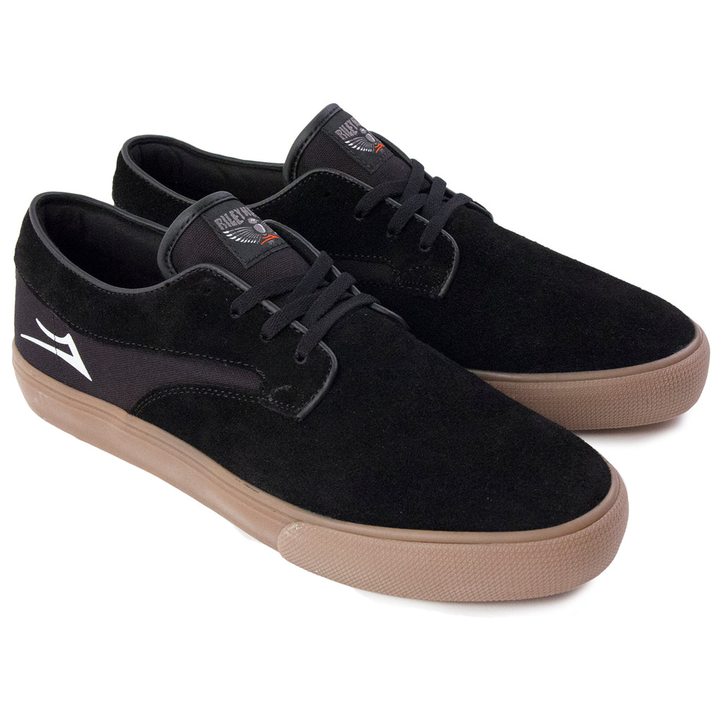 Lakai Riley Hawk Suede Pro Shoes in Black / Gum - Pair