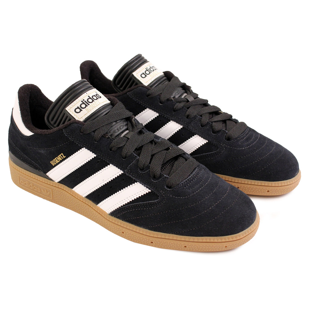 Adidas Busenitz Shoes in Black / Running White / Metallic Gold - Pair