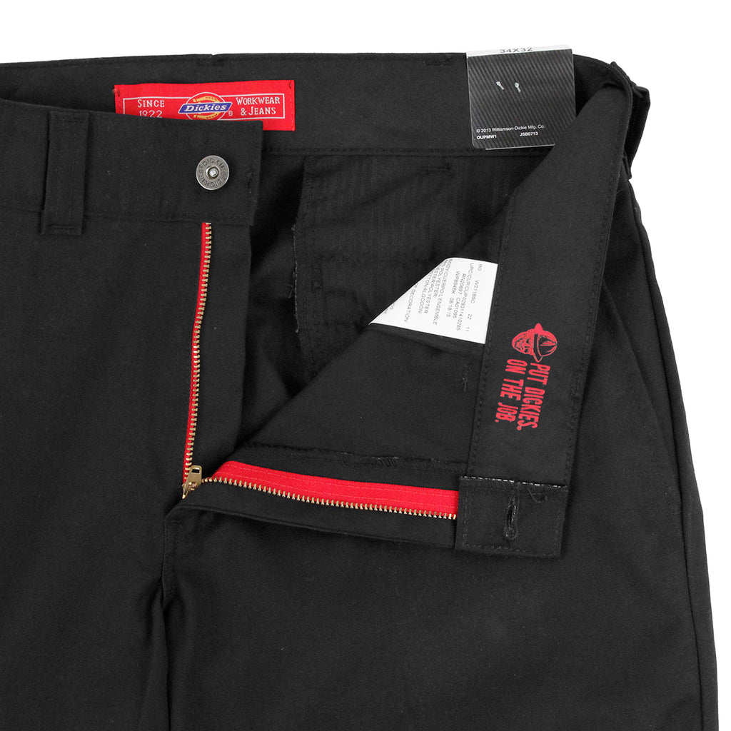 Dickies 894 Industrial Work Pant in Black - Unzipped