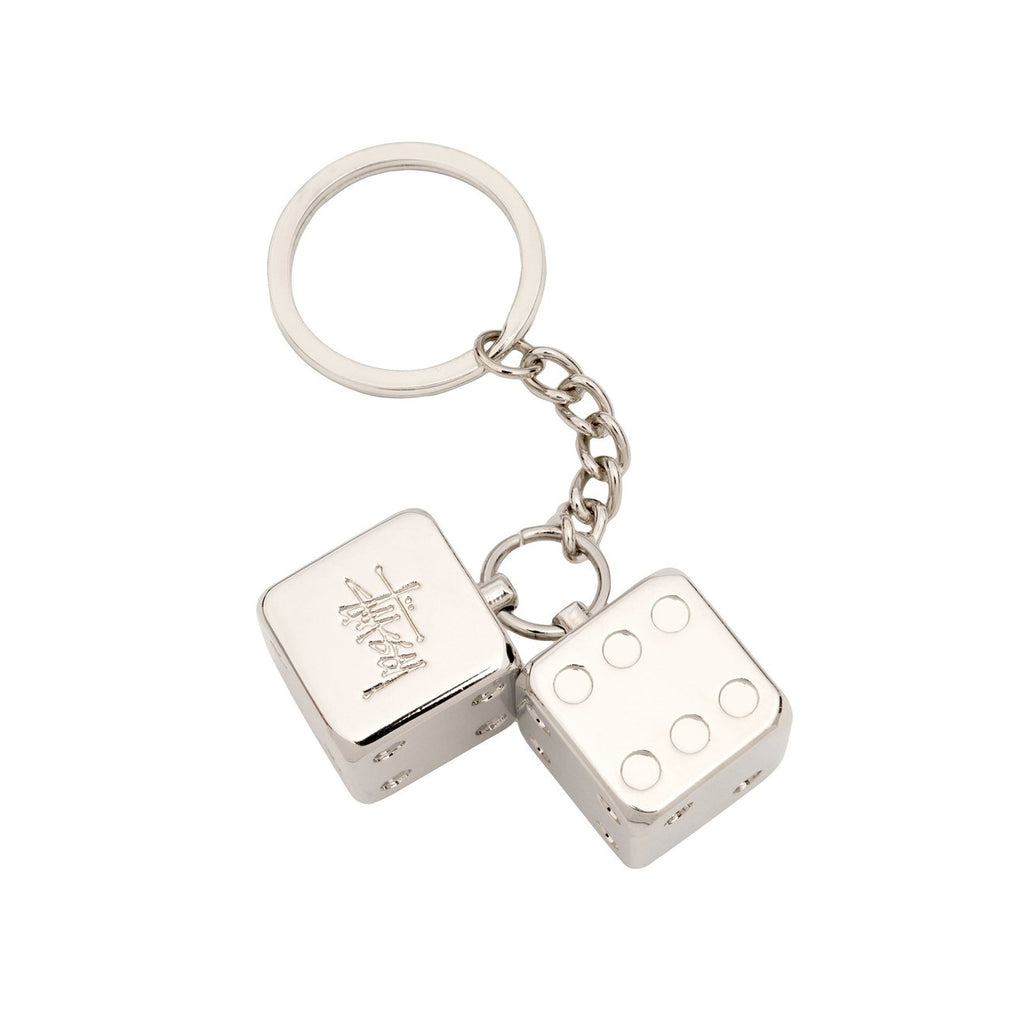 Stussy Metal Dice Keychain - Front
