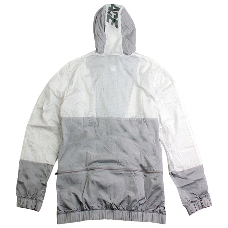 Palace x Adidas Packable Windbreaker 1 in Light Grey / Solid Grey / White - Back
