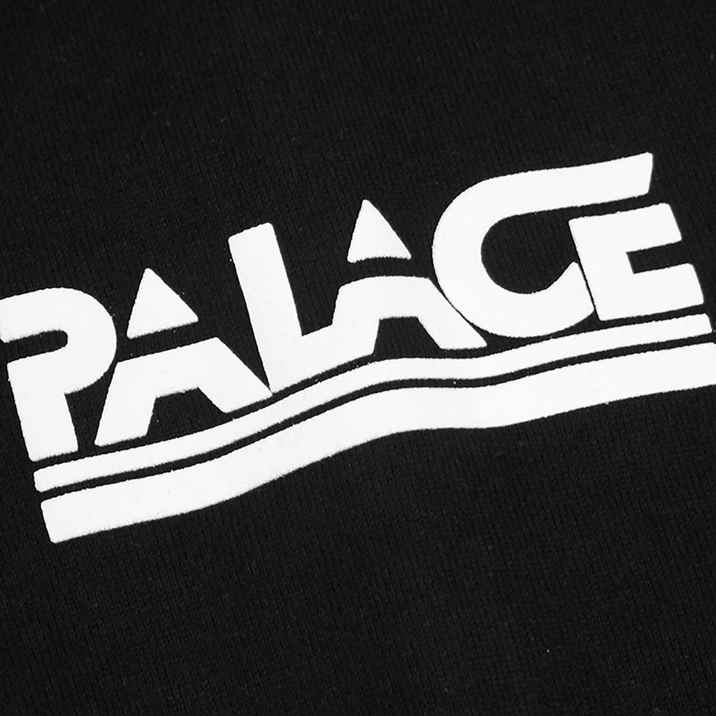 Palace Lightweight Crew Sweatshirt in Black - Front print