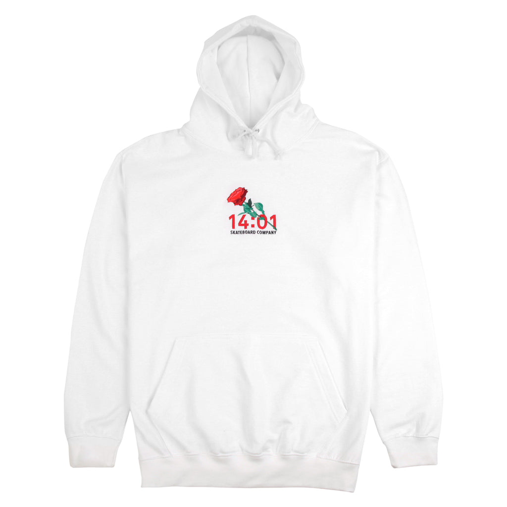 14:01 Skateboard Co Passionate Hoodie in White
