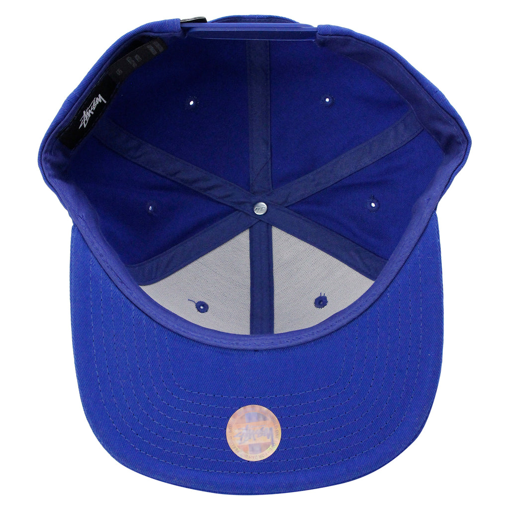 Stussy SS Link Snapback in Royal Blue - Inside