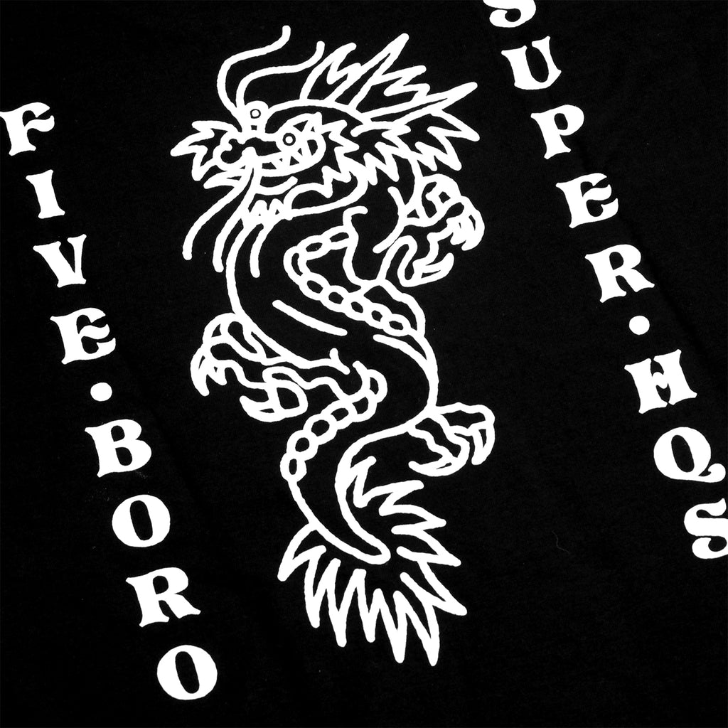 5Boro Dragon T Shirt in Black - Back Print