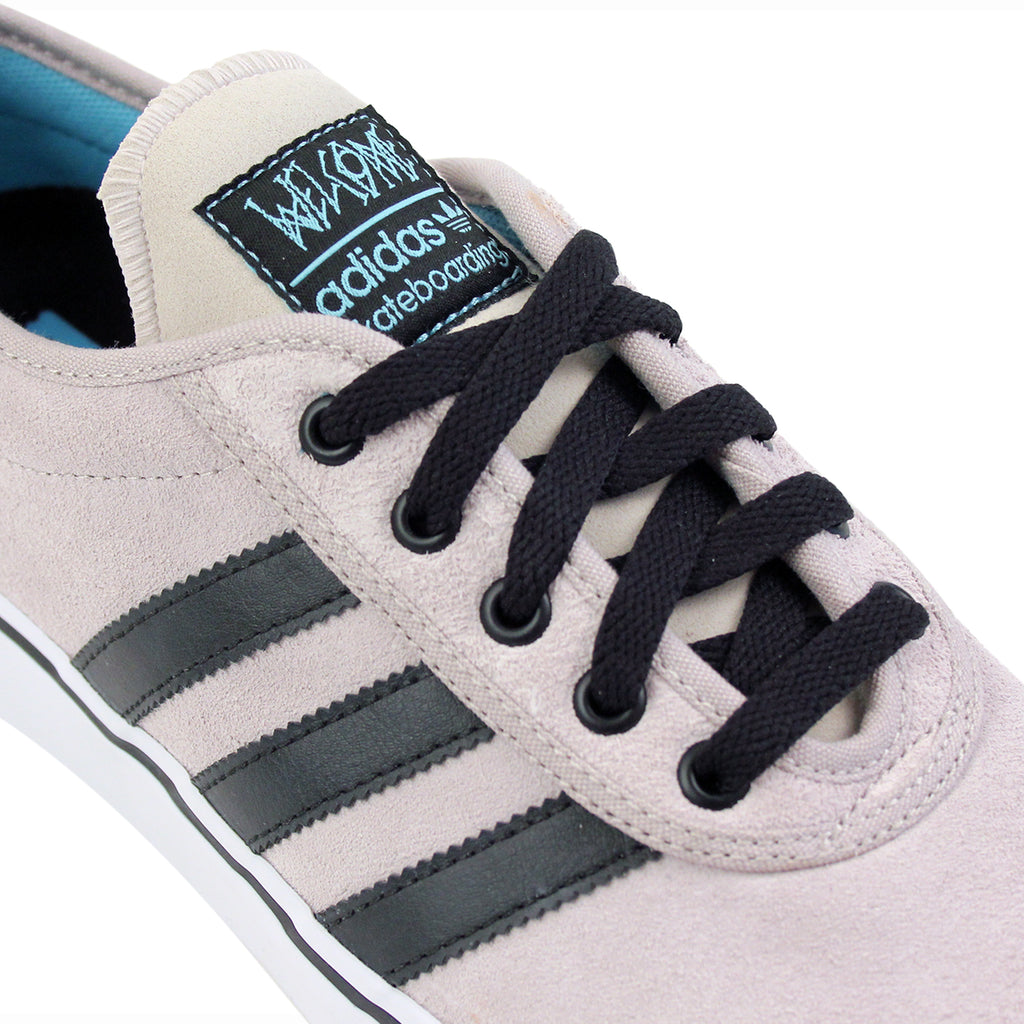 Adidas Skateboarding Adi Ease ADV Shoes in White / Core Black / Light Aqua - Detail
