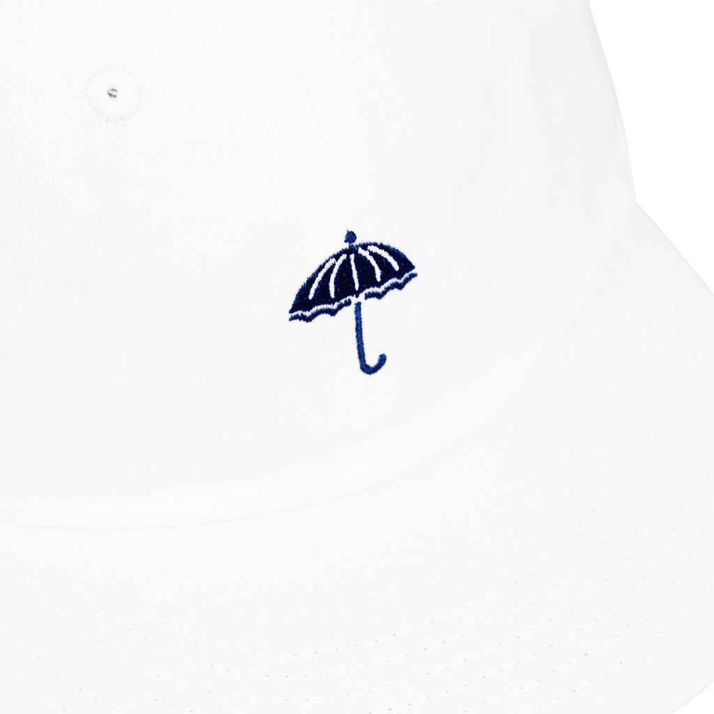 Helas Classic 6 Panel Cap in White / Navy - Detail