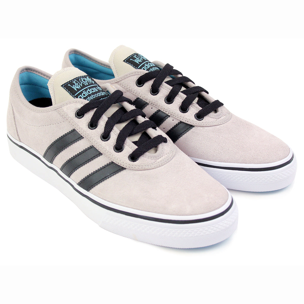 Adidas Skateboarding Adi Ease ADV Shoes in White / Core Black / Light Aqua - Pair
