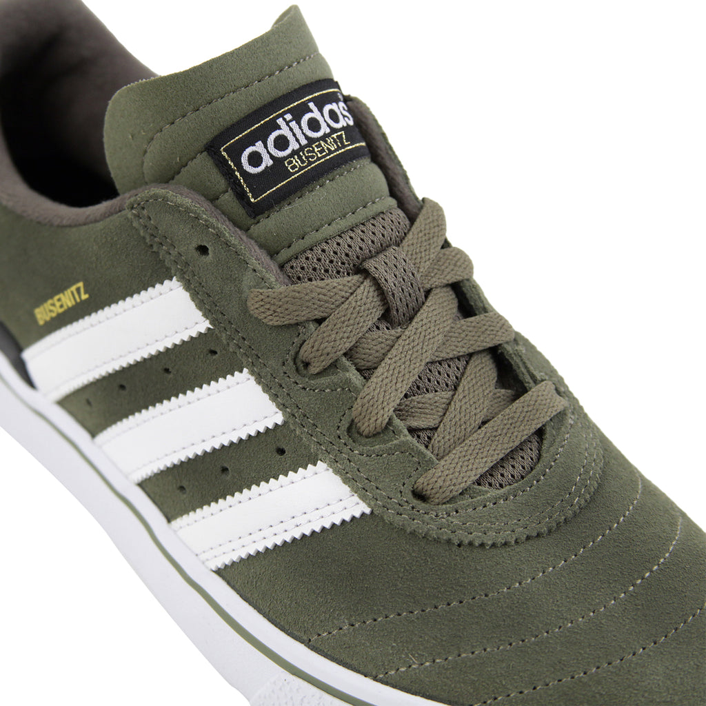 Adidas Busenitz Vulc Shoes in Olive Cargo / White / Core Black - Detail