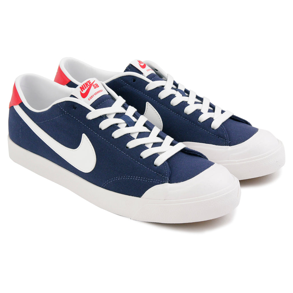 Nike SB Cory Kennedy Shoes in Midnight Navy / Summit White - Pair