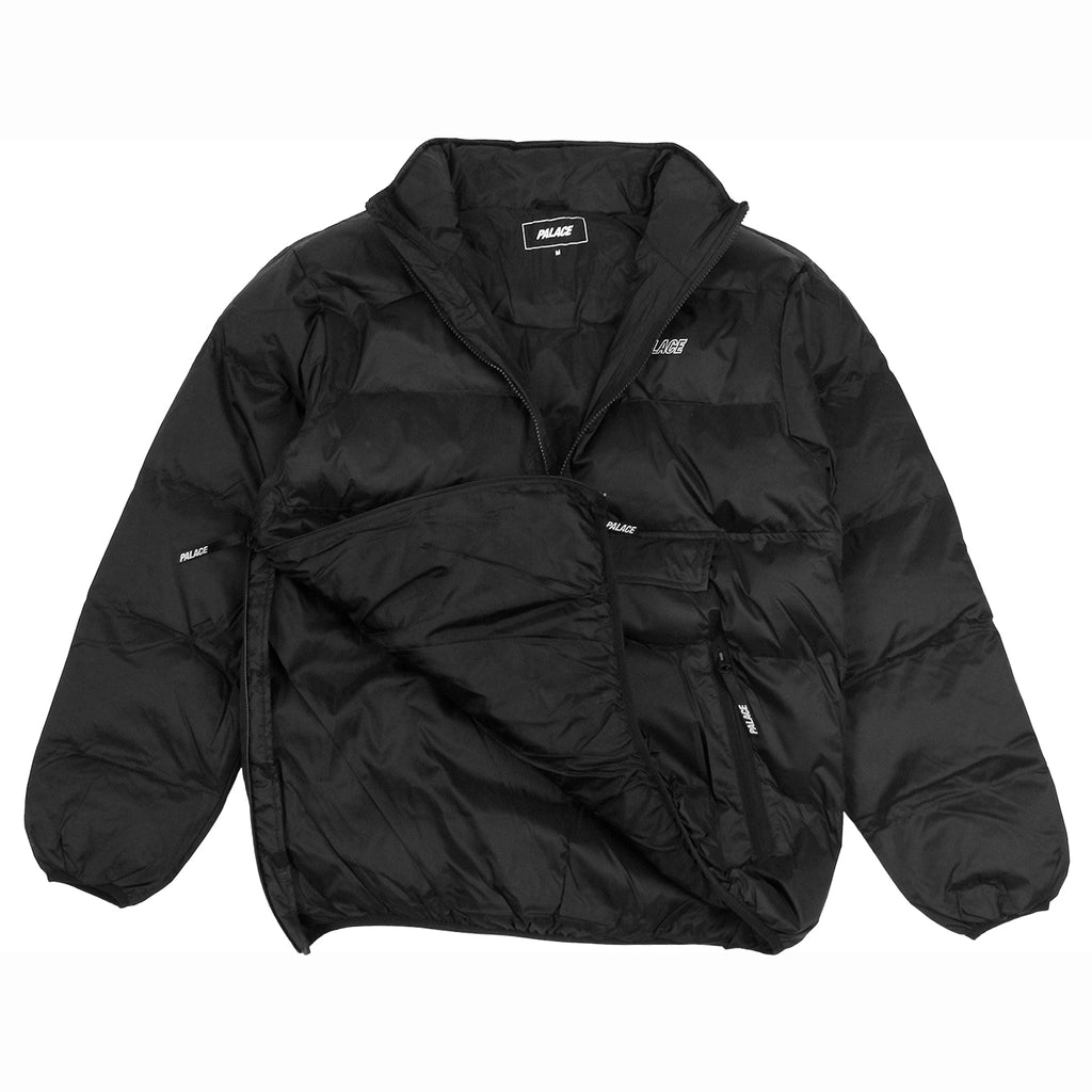 Palace Puffa Jacket in Anthracite - Detail 3