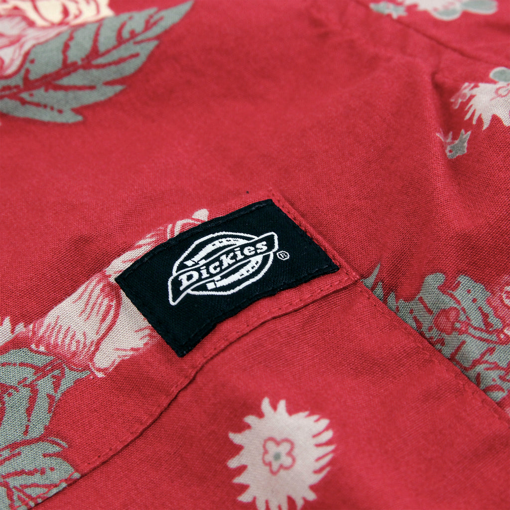Dickies Mendota Shirt in English Red - Label