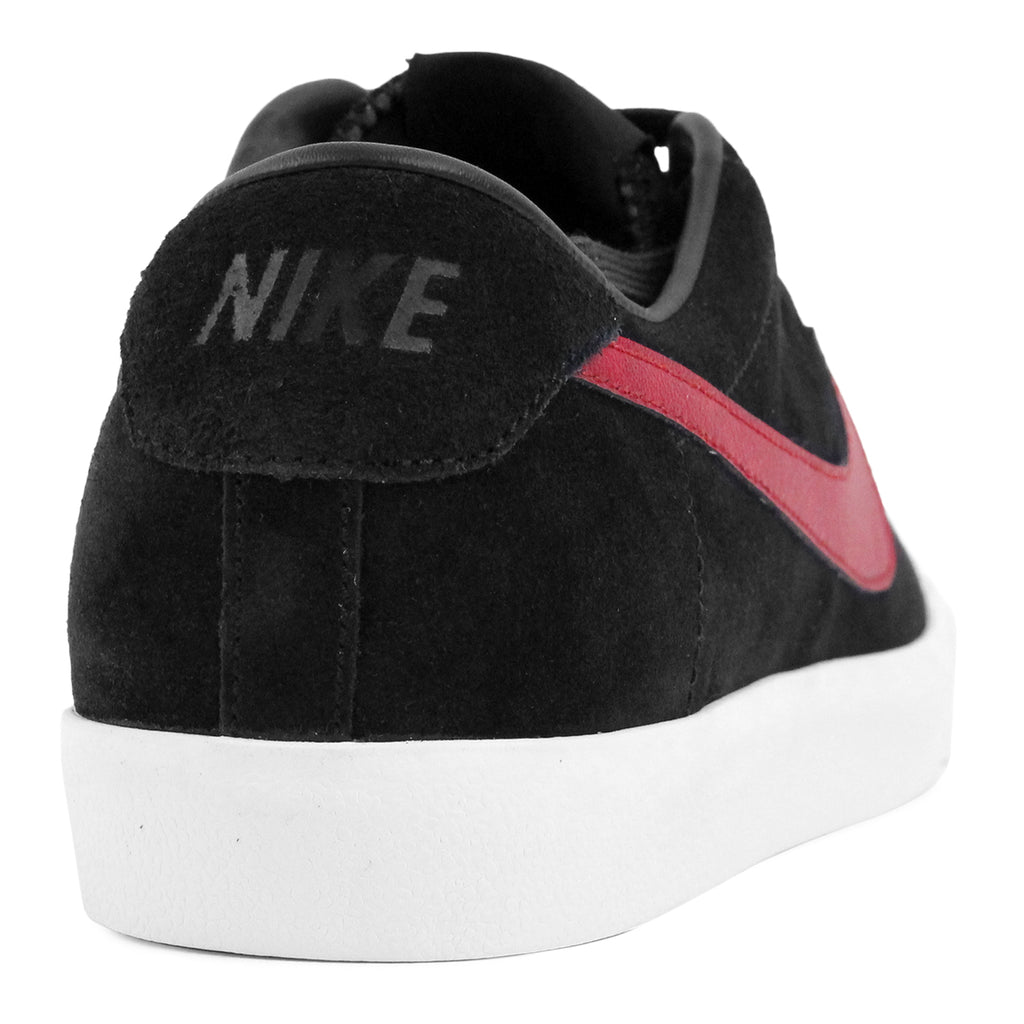Nike SB Zoom All Court CK QS Shoes in Black / Team Red / White - Heel