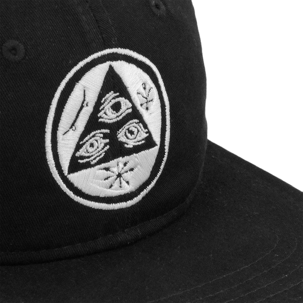 Welcome Skateboards Talisman Unstructured Snapback Cap in Black - Patch