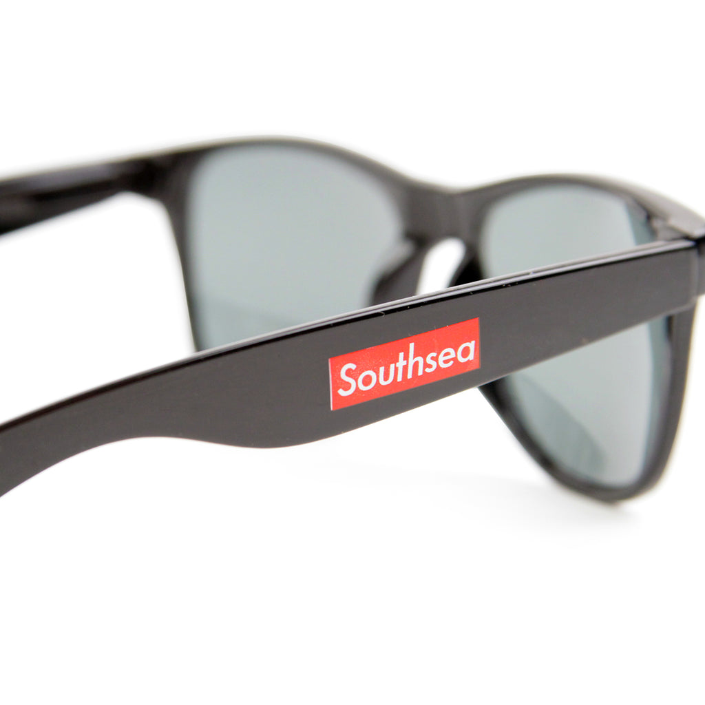 "Bored of Southsea ""Southsea"" Wayfarer Sunglasses in Black - Arms"