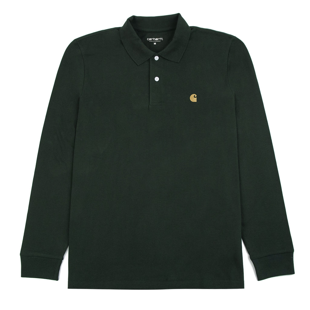 Carhartt Chase Polo Shirt in Loden / Gold