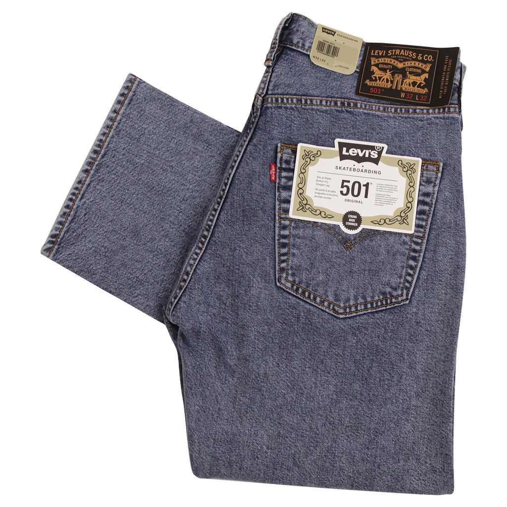 Levis Skateboarding 501 Jeans in Dip Stick - Folded