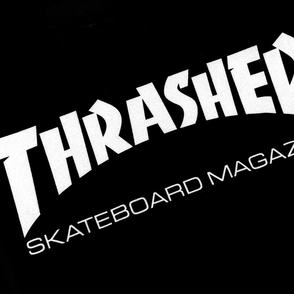 Thrasher Skate Mag Logo L/S T Shirt in Black/White - Print