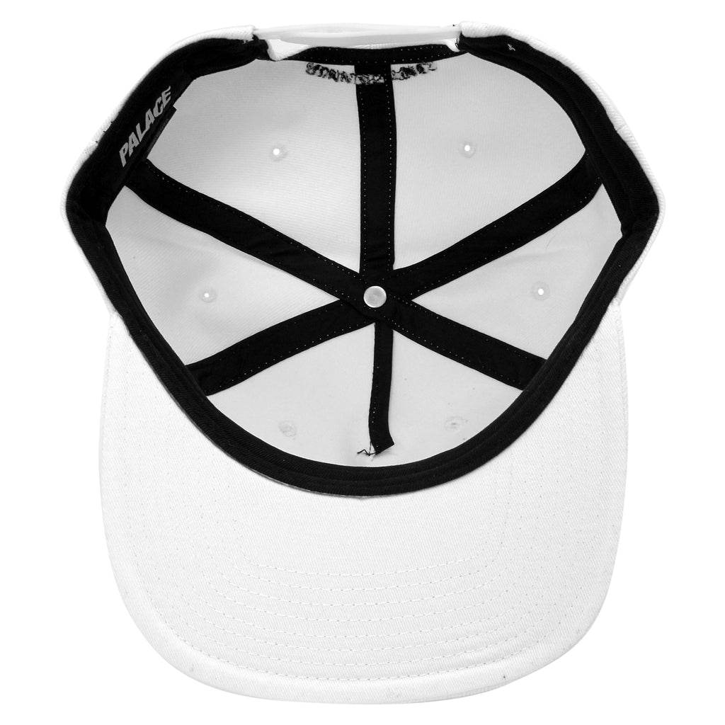 Palace Running Tings Snapback Hat in White - Inside
