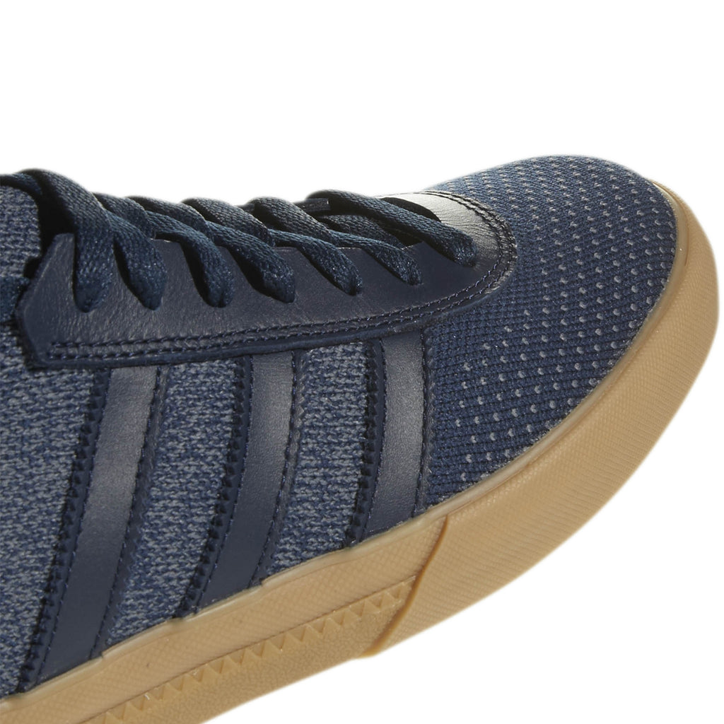 Adidas Lucas Premiere Primeknit Shoes in Collegiate Navy / Onix / Gum - Detail