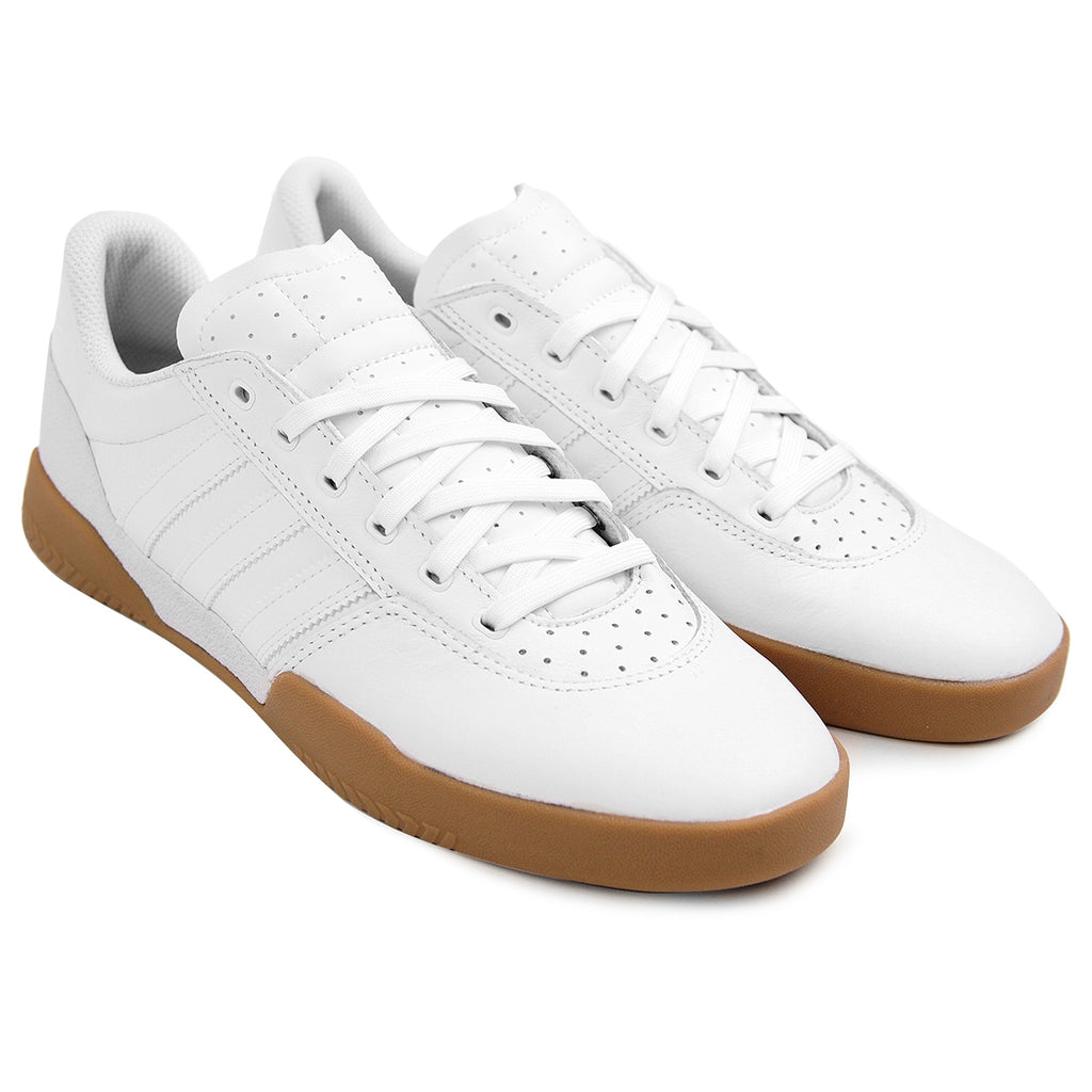 Adidas City Cup Shoes in White / White / Gum - Pair
