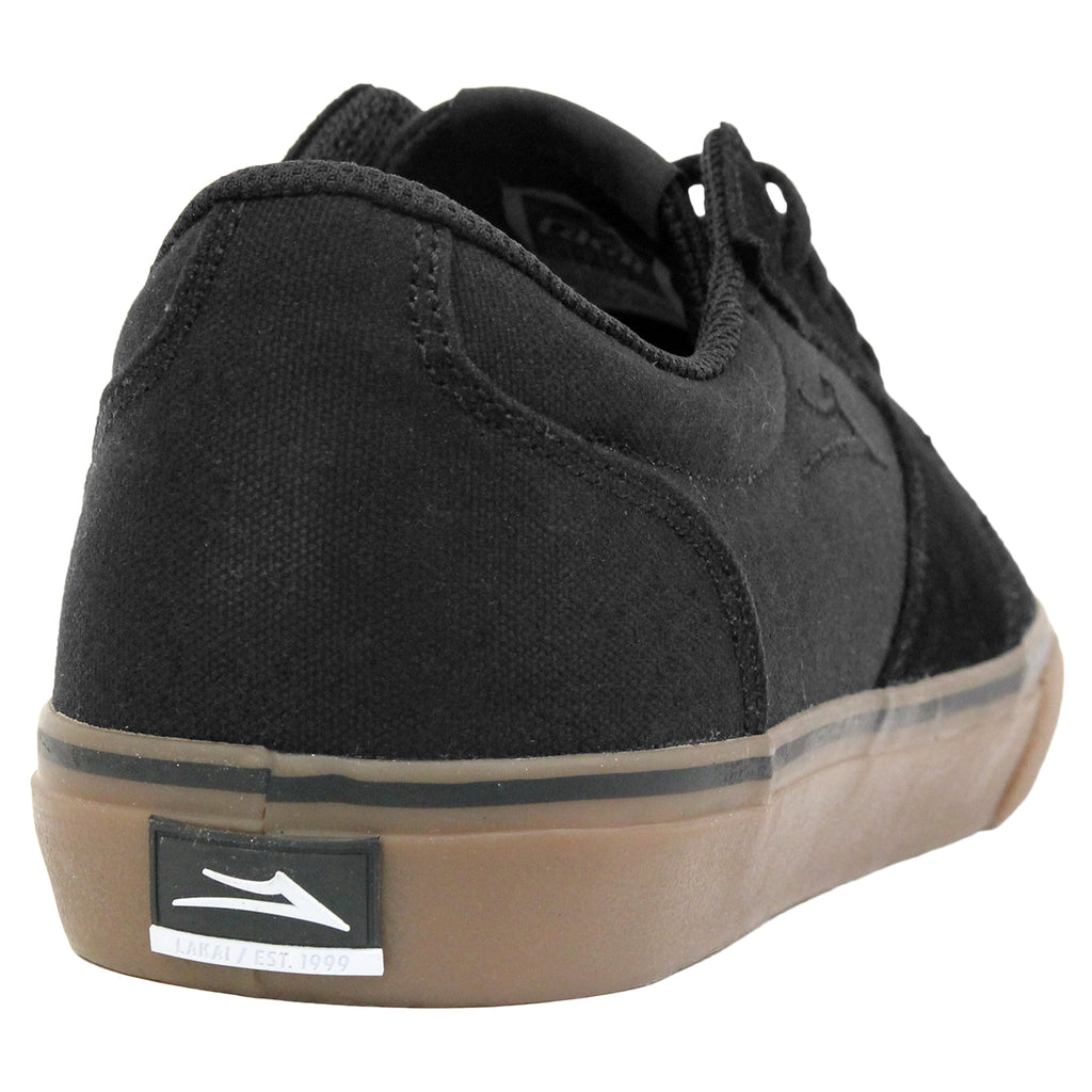 Lakai Fura Suede Shoes in Black/Gum - Heel