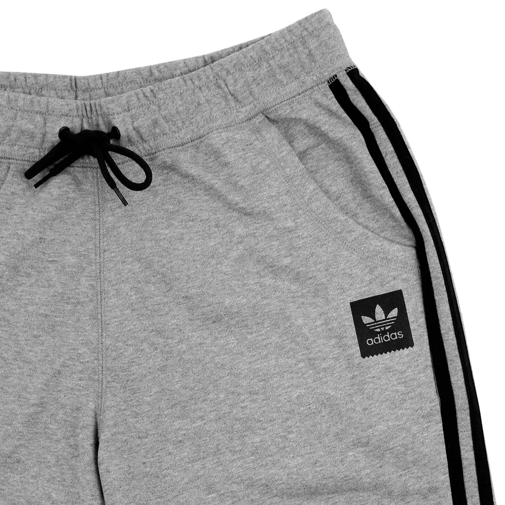 Adidas Skateboarding Clima Knit Shorts in Core Heather - Detail