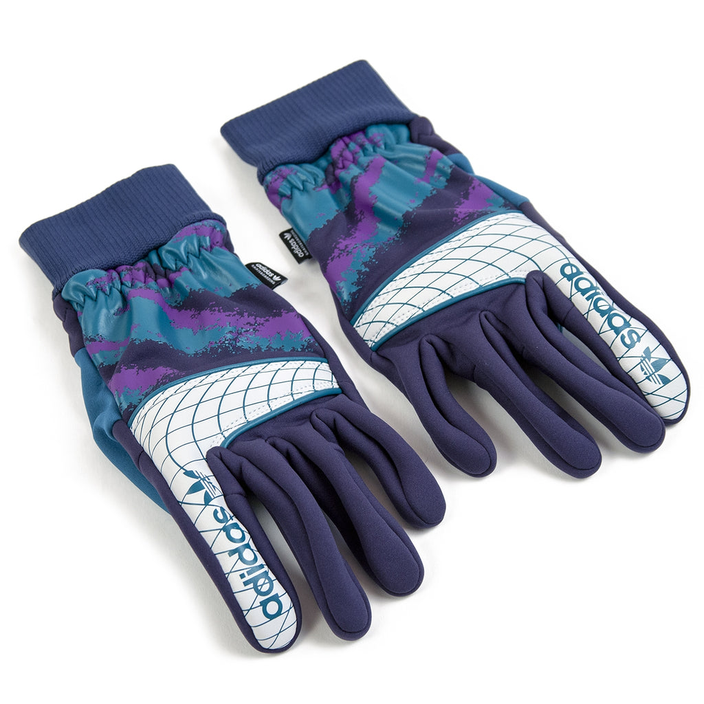 Adidas Goalie Gloves in Collegiate Navy / Real Teal