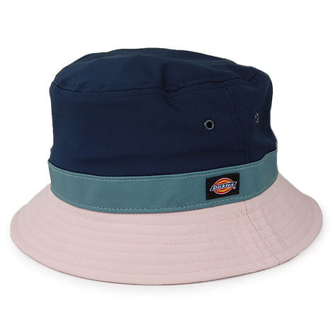 Dickies Twin City Bucket Hat in Dark Blue - Side