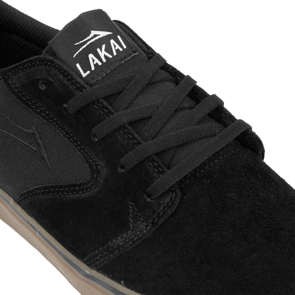 Lakai Fura Suede Shoes in Black/Gum - Detail