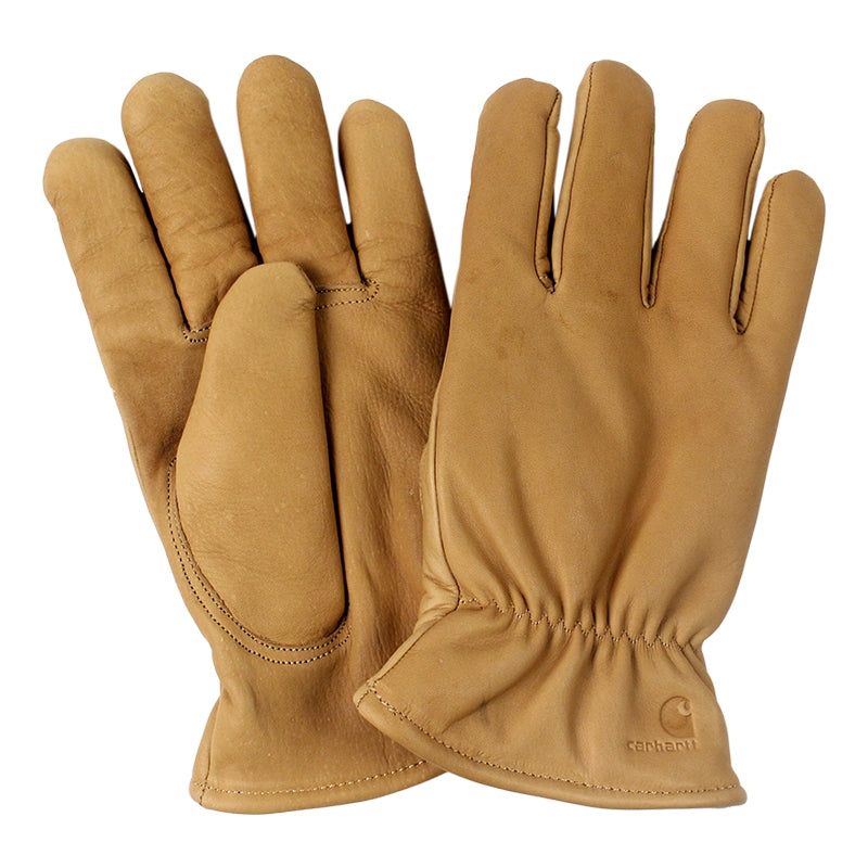 Carhartt WIP Lined Leather Gloves in Camel