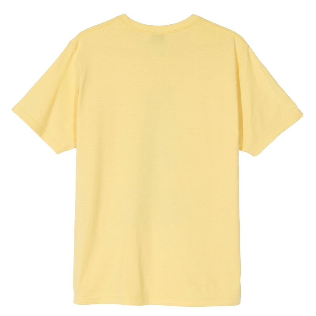 Stussy 8 Ball Man T Shirt in Yellow - Back
