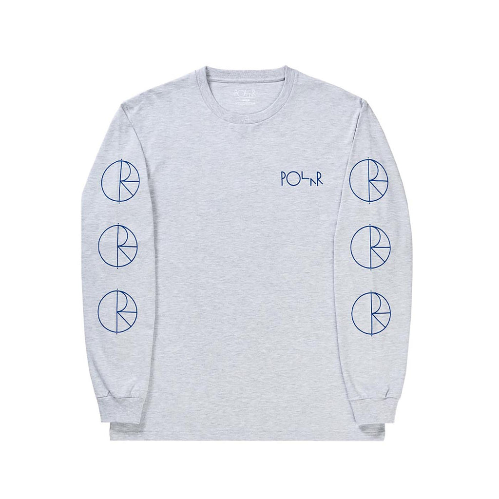 Polar Skate Co Racing L/S T Shirt in Heather Grey