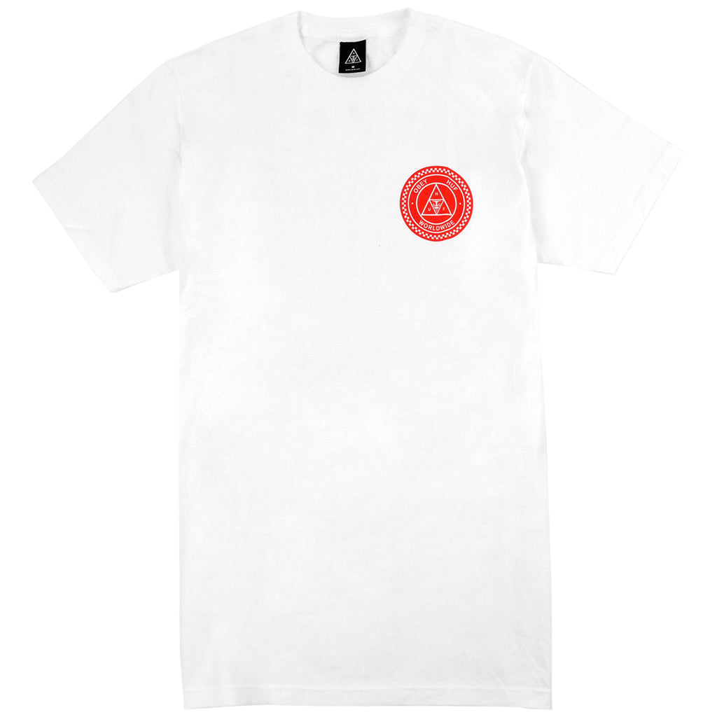 HUF x Obey Rat Race T Shirt in White