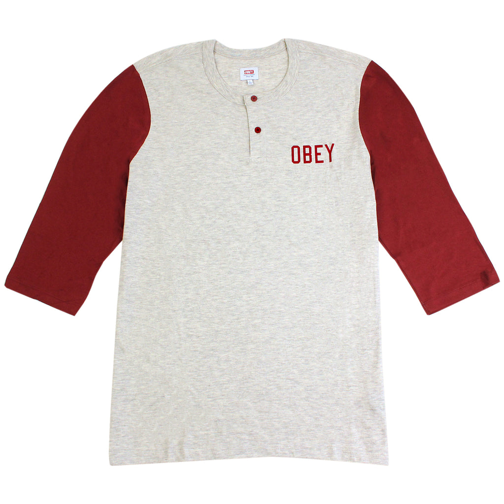 Obey Clothing Emerson Henley in Heather Oatmeal